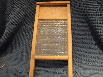 VINTAGE HOME AIDE WASHBOARD 1930's with Glass Washboard