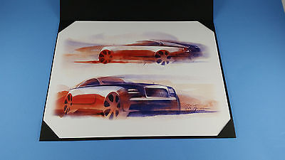 Rolls Royce Wraith Artist Concept Drawing Print in Protective Folder
