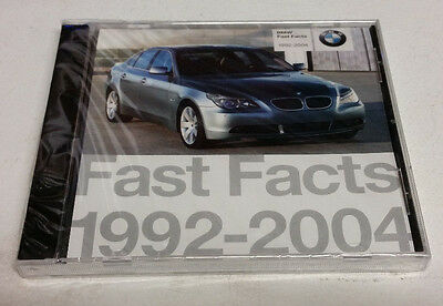 BMW Fast Facts 1992-2004 - Internal Retail Information CD - Sealed!