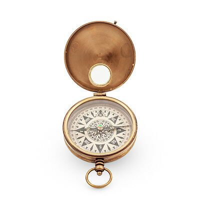 Brass Field Compass Vintage Style Nautical Pocket Watch Style NEW