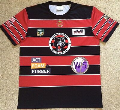 North Canberra Bears MRLFC NRL Rugby League Jersey Mens XL VGC