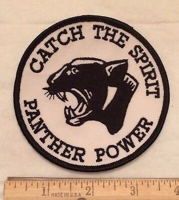 Catch the Spirit Panther Power Round Embroidered Patch