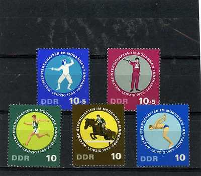 GERMANY DDR 1965 Sc#789-791,B135-B136 SPORTS SET OF 5 STAMPS MNH
