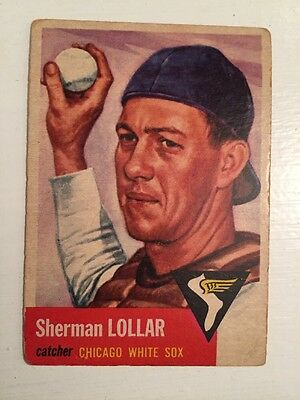 1953 Topps Baseball Card # 53 SHERMAN LOLLAR