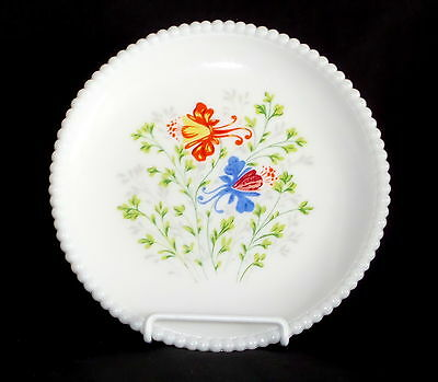 "Westmoreland BEADED EDGE FLORAL COLUMBINE *7 1/4"" SALAD PLATE*BE-17"