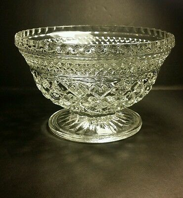 """4 1/2"""" tall, 6 1/2"""" Wide Wexford Pedestal/Footed Clear Glass Bowl"""