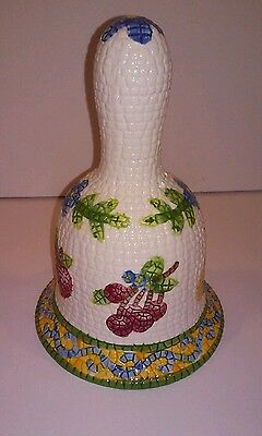World Showcase Gift Collection-Porcelain Bell-Mosaic Design-Fruit Design 6 1/4 ""