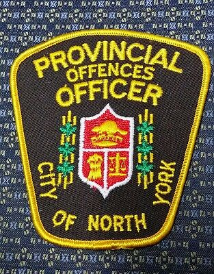 City Of North York Provincial Officer, Canada Police Shoulder Patch