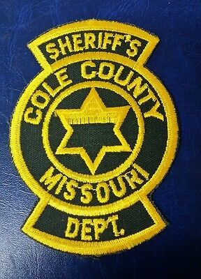 Cole County, Missouri Sheriff Police Shoulder Patch Mo