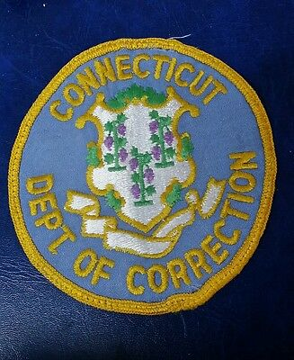 Connecticut Department Of Correction Police Shoulder Patch Ct