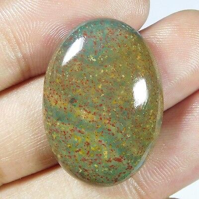 41.2Cts 100% NATURAL CHARMING BLOOD STONE OVAL 33X23 LOOSE CAB GEMSTONE PJ295