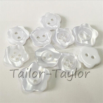 100pcs 2-holes Resin Buttons Sewing Scrapbooking Cardmaking Flower Crafts DIY