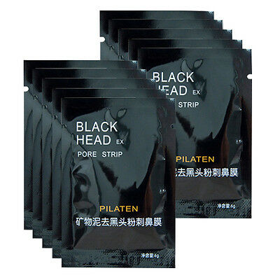 10 Pcs Blackhead Cleaner Remover Nose Membranes Cleansing Pore Mask Reliable