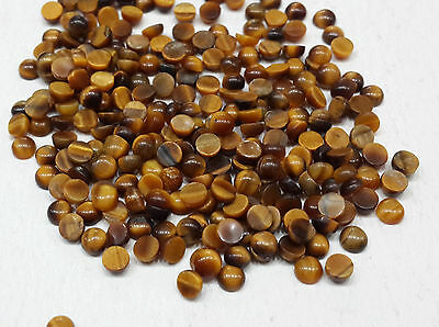 3-3.5mm 10cts 70pc/Lot Natural Loose Tiger Eye Gemstone Round Cabochon Nontreate