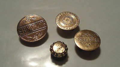 Vintage Lot Of Silver Buttons Studs 830 Silver , Gold Filled , Unknown, Danish