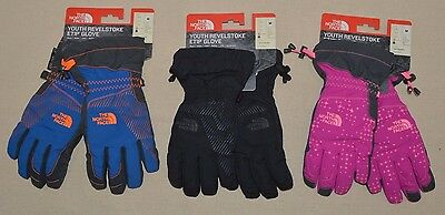 The North face Youth Revelstoke Etip Waterproof Insulated Tech Gloves Ski S M L