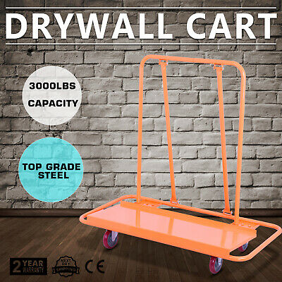 Drywall Dolly Heavy Duty Sheetrock Panel Cart Trolley Plywood Truck 3000LBS