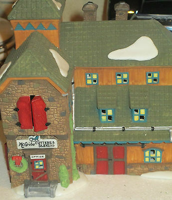 """Dept 56 New Englang Village Series """"McGrebe Cutters and Sleighs"""""""