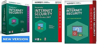 Kaspersky INTERNET SECURITY 2017, 3 PC 2 Year for Window - License Key ONLY