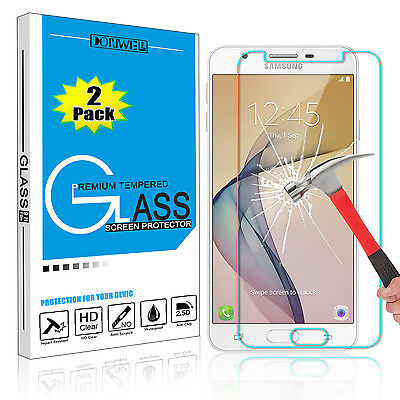 2X Tempered Glass Screen Protector Film 9H For Samsung Galaxy J7 V 2017 /Sky Pro