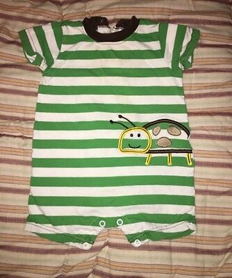Just One Year By Carter's 6 Month Boy Romper Green Stripe