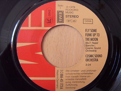 """""""7"""" Cosmic Sound Orchestra Fly some funk up to the Moon - Fight"""