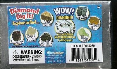 Diamond Dig It Mystery Blind Box Find REAL  Diamonds in 1 of 24 Boxes
