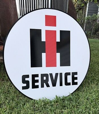 Antique Vintage Old Look International Harvester Service Sign Porcelain Look 24""