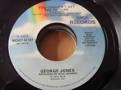 """""""7"""" George Jones You couldn´t get The Picture - Heckel and Jeckel MCA USA"""