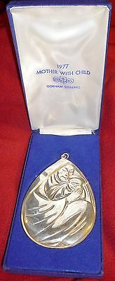 1977 Gorham Sterling Silver Mother With Child Ornament