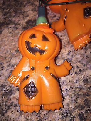 Set Of Ten Halloween 2-Sided Scarecrow Man Blow Mold Novelty Lights
