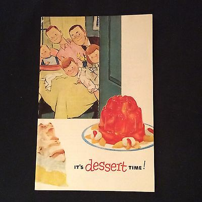 Vintage Jell-O Pudding Recipe Booklet - It's Dessert Time - 1953