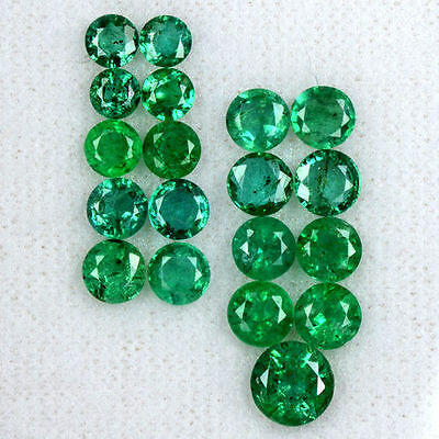 6.35 Cts Natural Rich Green Emerald Loose Gemstone Round Lot Untreated Zambia $