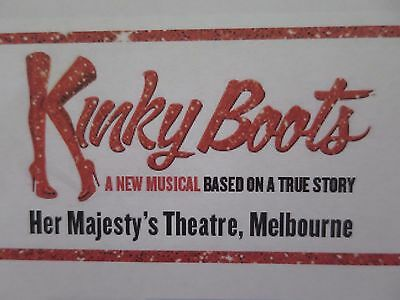 Kinky Boots Stage Show Tickets X 2 - Saturday 14 January - Melbourne