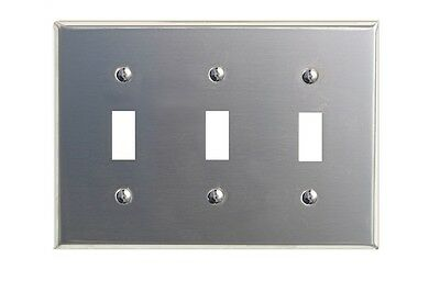 Switchplate Brushed Stainless Steel Triple Toggle | Renovators Supply
