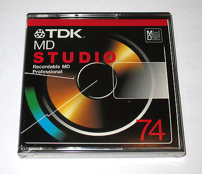 One (1) Minidisc TDK Studio PRO MD74 '1999 RARE (new and sealed)