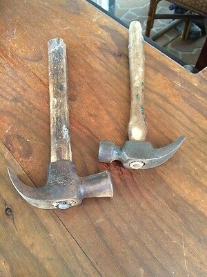 2 Vintage Quality Small Claw Hammers. One Is A Cobblers. One A Carpenters.
