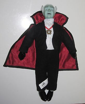 """THE MUNSTERS doll GRANDPA by Toy Factory Dracula vampire plush 14"""""""