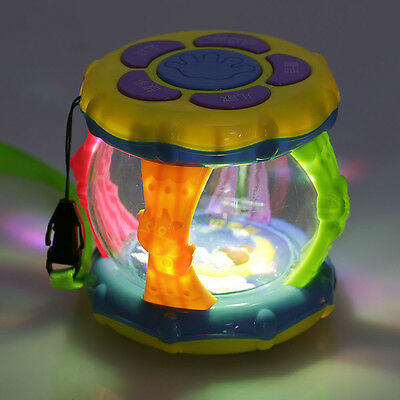 Plastic Light Music Play Drum Early Learning Educational Development Baby Toys
