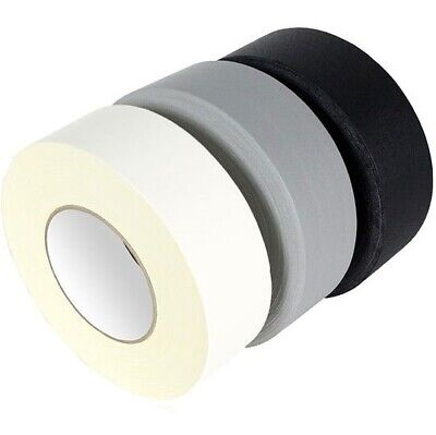 """DUCK DUCT GAFFA GAFFER WATERPROOF CLOTH WHITE/BLACK/SILVER/RED TAPE 2""""x 50M MIX"""