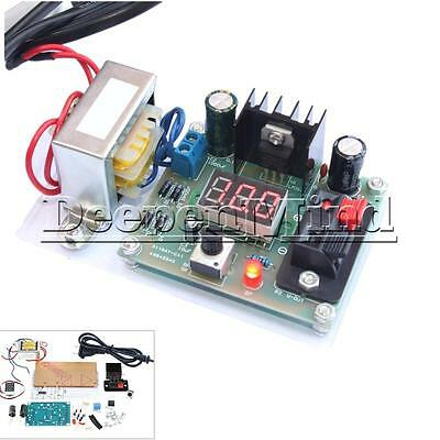 New Continuously Adjustable Regulated DC Power Supply DIY Kit LM317 1.25-12V