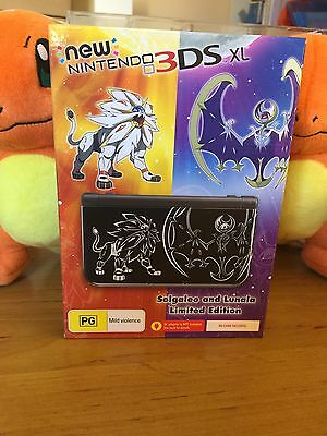New Nintendo 3DS XL Pokemon Solgaleo and Lunala Limited Edition Console PAL AUS