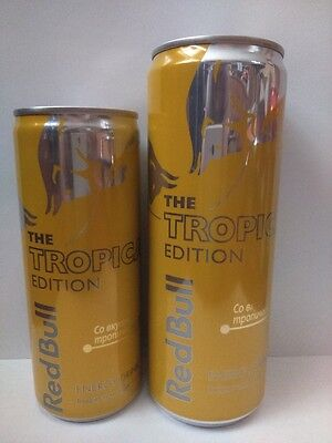 Red Bull Energy drink set of 2  cans 0.25&0.33l.From Russia Tropical Edition