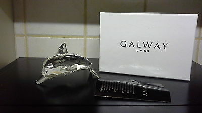 Galway Crystal Small Dolphin Length 11.5cm # IC15