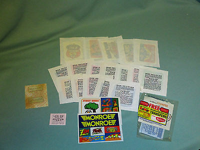 Lot of Vintage Kelloggs Cereal and Other Premiums Prizes Stickers, Iron Ons