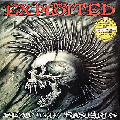 THE EXPLOITED-Beat The Bastards [2xLP Vinyl Yellow Transparent Handnumbered]