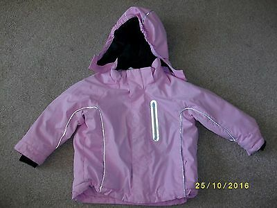 Girl's Pink Showerproof Hooded Jacket Age 2-3 Years from H & M
