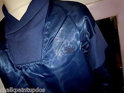 VINTAGE 80'S ADIDAS TRACKSUIT TOP (M-40/42) silky roll neck