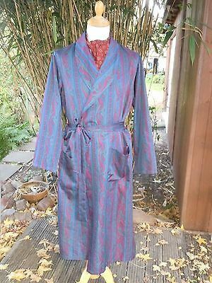 vintage style mens [M&S] - Tricel - like silk - green dressing gown/robe~M 36/38