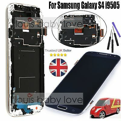 For Samsung Galaxy S4 i9505 LCD Display Digitizer Touch Screen Frame Assembly UK